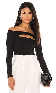 Slit Front Off Shoulder Blouse Susana Monaco $148 NEW