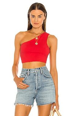 One Shoulder Crop Top Susana Monaco $68 NEW