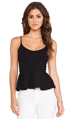 Casey Peplum Tank in Black