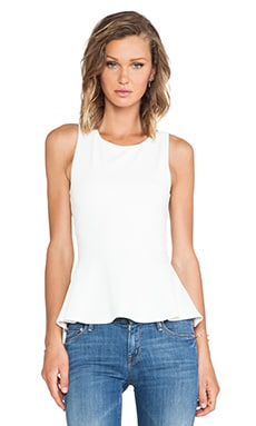 Susana Monaco Zoe Cross Back Tank in Meringue