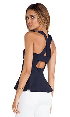 Susana Monaco Zoe Crossover Back Tank in Midnight