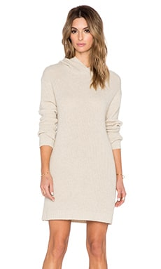 SUSS Karlie Hooded Sweater Dress in Natural