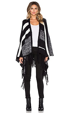 SUSS Freya Poncho in Black Combo