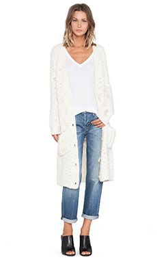 SUSS Ainsley Oversized Cardigan in Winter White