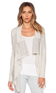 SUSS Dara Cardigan in Heather Grey Combo