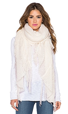 SUSS Cierra Fringe Shawl in White