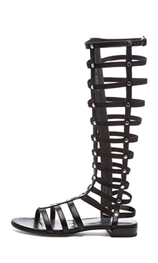 Nappa Leather Gladiator Sandals en Noir