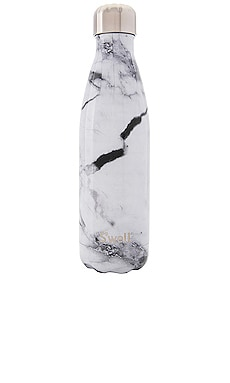 Elements 17oz Water Bottle in White Marble