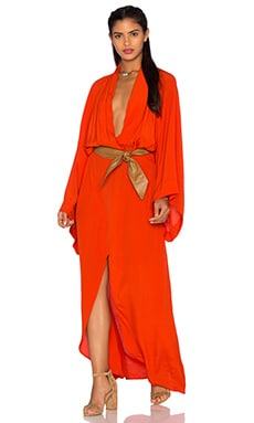 SWF Keira Kimono Dress in Blood Orange