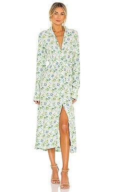 Long Sleeve Shirt Dress SWF $299 NEW