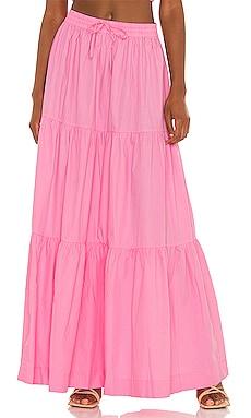 Drawstring A Line Tiered Maxi Skirt SWF $329