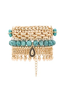 Samantha Wills Midnight Prism Bracelet Set in Lagoon Turquoise