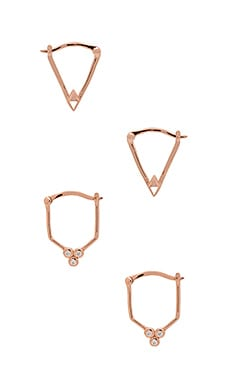 Samantha Wills Gold Dust Nights Earring Set in Rose Gold