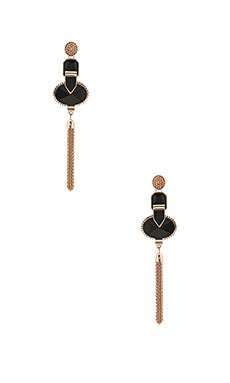 Heart Wonder Drop Earrings in Rose Gold