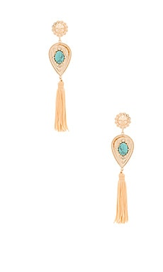 Nightfall Lustre Large Drop Earrings in Shiny Gold