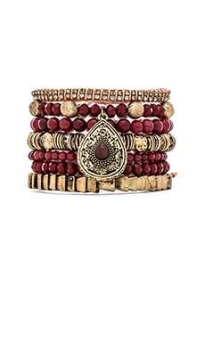Samantha Wills Maybe Tomorrow Bracelet Set in Burgundy