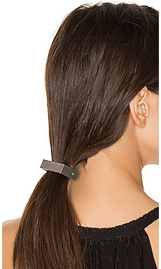 Barrette in Matte Silver