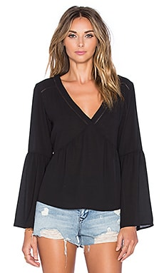 Talulah Fire and Rain Top in Black