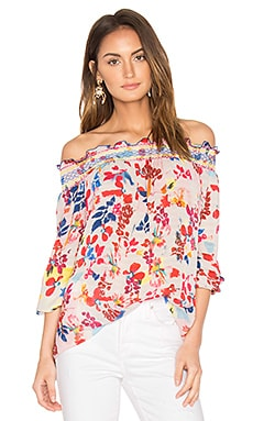 Nessa Top in White Multi