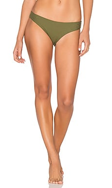 Ali Moderate Bikini Bottoms in Olive Ribbed