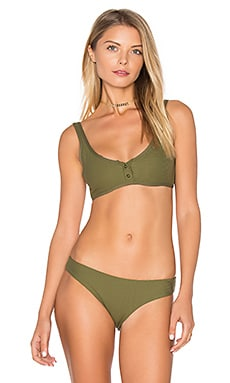Marlowe Bikini Top in Olive Ribbed