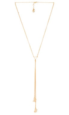 XO Lariat Necklace in Gold