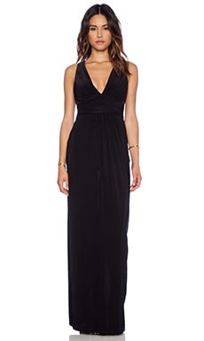 T-Bags LosAngeles Gathered Waist Maxi Dress in Black