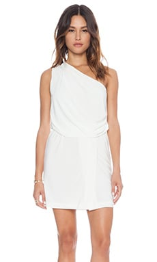 T-Bags LosAngeles One Shoulder Mini Dress in White