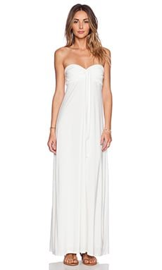 T-Bags LosAngeles Convertible Maxi Dress in White