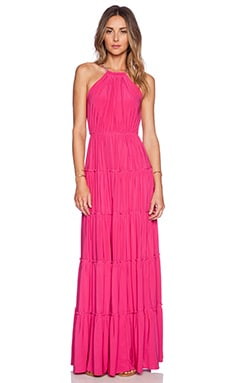 T-Bags LosAngeles Halter Maxi Dress in Fuchsia