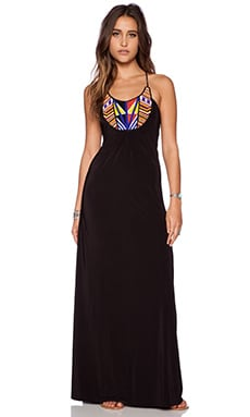 T-Bags LosAngeles Tribal Maxi Dress in Black