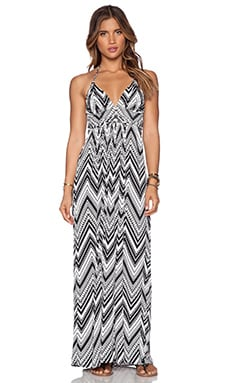 T-Bags LosAngeles X Back Maxi Dress in Black & White Geo