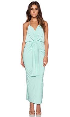 T-Bags LosAngeles Tie Front Maxi Dress in Mint
