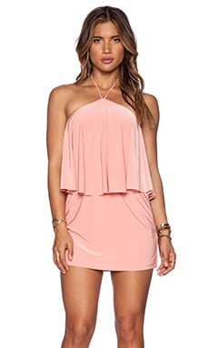 T-Bags LosAngeles Halter Mini Dress in Blush