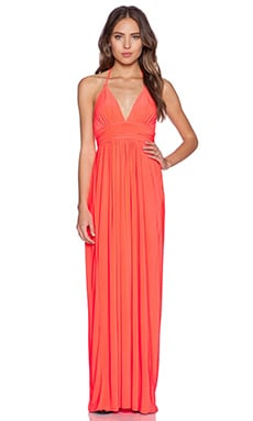 T-Bags LosAngeles X Back Maxi Dress in Neon Coral