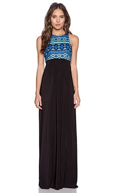 T-Bags LosAngeles Ikat Maxi Dress in Black