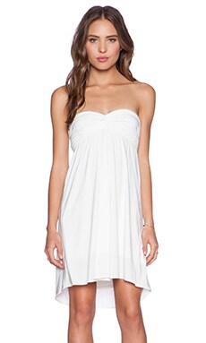 T-Bags LosAngeles Braided Back Dress in White
