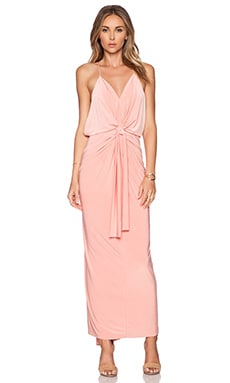 T-Bags LosAngeles Tie Front Maxi Dress in Blush