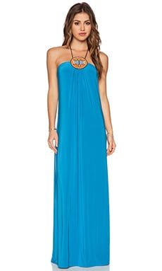 T-Bags LosAngeles Tribal Maxi Dress in Pool Blue
