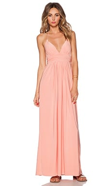 T-Bags LosAngeles X Back Maxi Dress in Blush