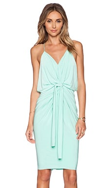 T-Bags LosAngeles Domino Tie Front Mini Dress in Mint