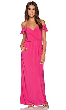 T-Bags LosAngeles Cold Shoulder Maxi Dress in Fuchsia