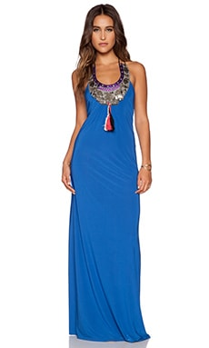 T-Bags LosAngeles Embellished Maxi Dress in Indigo