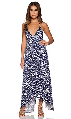T-Bags LosAngeles Low Back Maxi Dress in Santorini