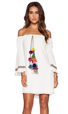 T-Bags LosAngeles Tulum Dress in Ivory