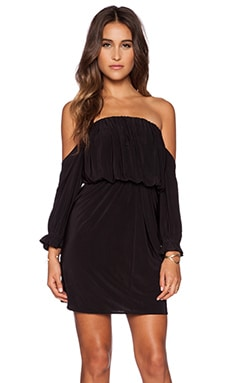 Off Shoulder Mini Dress in Black