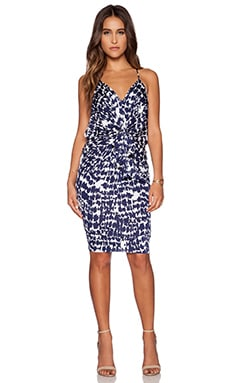 T-Bags LosAngeles Knot Front Mini Dress in Santorini
