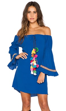 T-Bags LosAngeles Tulum Dress in Royal