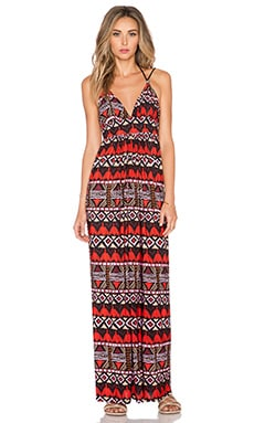 T-Bags LosAngeles Tie Back Maxi Dress in Santiago