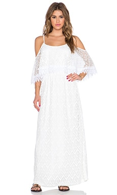 Lace Maxi Dress in Pearl